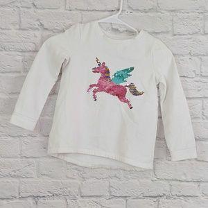 Carter's   Dual Side Sequinn Unicorn Sweatshirt